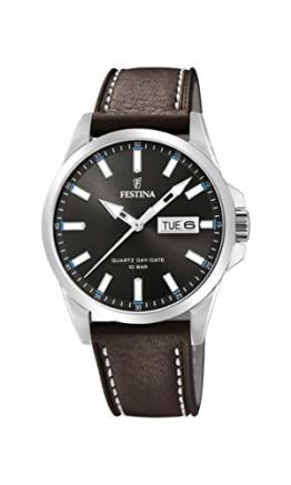 Festina Herren Analog Quarz Uhr mit Leder Armband F20358/1 - 1