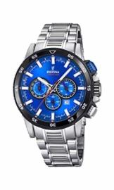 Festina Herren Chronograph Quarz Smart Watch Armbanduhr mit Edelstahl Armband F20352/2 - 1