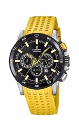 Festina Herren Chronograph Quarz Smart Watch Armbanduhr mit Silikon Armband F20353/5 - 1