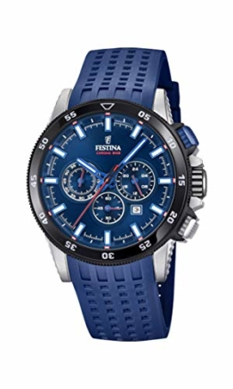 Festina Herren Chronograph Quarz Smart Watch Armbanduhr mit Silikon Armband F20353/3 - 1