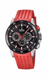 Festina Herren Chronograph Quarz Smart Watch Armbanduhr mit Silikon Armband F20353/8 - 1