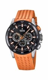 Festina Herren Chronograph Quarz Smart Watch Armbanduhr mit Silikon Armband F20353/6 - 1