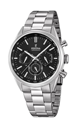 Festina Herren Chronograph Quarz Uhr mit Edelstahl Armband F16820/4 - 1