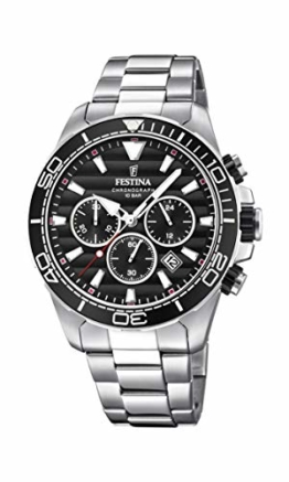 Festina Herren Chronograph Quarz Uhr mit Edelstahl Armband F20361/4 - 1