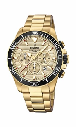 Festina Herren Chronograph Quarz Uhr mit Edelstahl Armband F20364/1 - 1