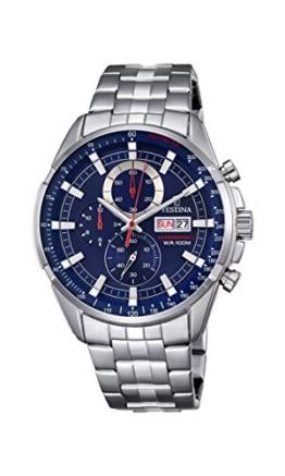 Festina Herren Chronograph Quarz Uhr mit Edelstahl Armband F6844/3 - 1