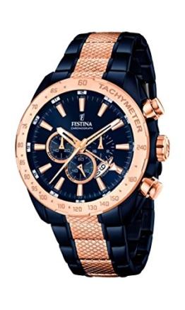 Festina Herren Chronograph Quarz Uhr mit Edelstahl beschichtet Armband F16886/1 - 1
