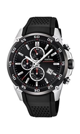 Festina Unisex Erwachsene Chronograph Quarz Uhr mit Kautschuk Armband F20330/5 - 1