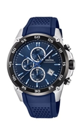 Festina Unisex Erwachsene Chronograph Quarz Uhr mit Leder Armband F20330/2 - 1