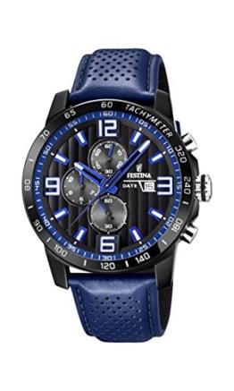 Festina Unisex Erwachsene Chronograph Quarz Uhr mit Leder Armband F20339/4 - 1