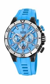 Festina Unisex Erwachsene Chronograph Quarz Uhr mit Silikon Armband F20450/6 - 1