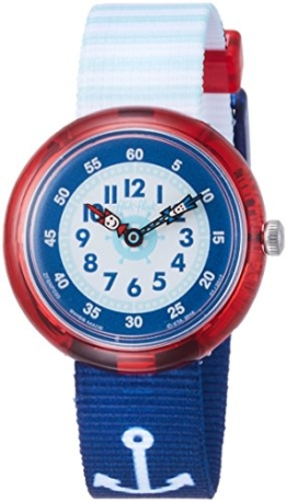 Flik Flak Jungen Analog Quarz Uhr mit Stoff Armband FBNP090 - 1