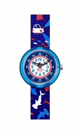 Flik Flak Jungen Analog Quarz Uhr mit Textil Armband FBNP131 - 1