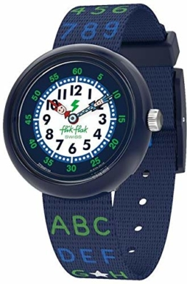 Flik Flak Jungen Analog Quarz Uhr mit Textil Armband FBNP132 - 1