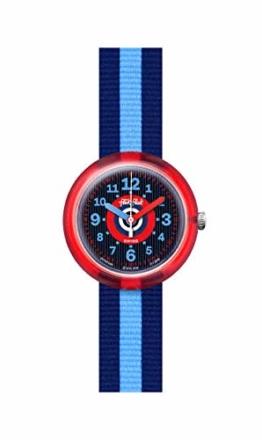 Flik Flak Jungen Analog Quarz Uhr mit Textil Armband FPNP040 - 1