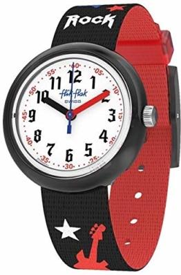 Flik Flak Jungen Analog Quarz Uhr mit Textil Armband FPNP051 - 1