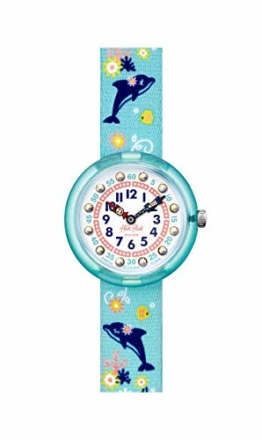 Flik Flak Mädchen Analog Quarz Uhr mit Kunststoff Armband FBNP124 - 1