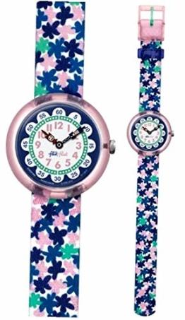 Flik Flak Mädchen Analog Quarz Uhr mit Stoff Armband FBNP080 - 1
