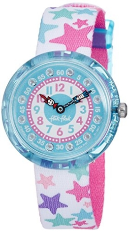 Flik Flak Mädchen Analog Quarz Uhr mit Stoff Armband FBNP081 - 1