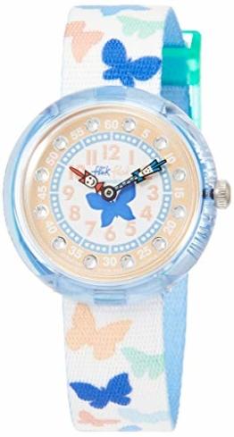 Flik Flak Mädchen Analog Quarz Uhr mit Stoff Armband FBNP099 - 1