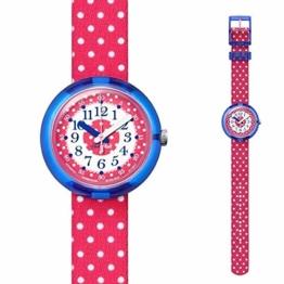 Flik Flak Mädchen Analog Quarz Uhr mit Stoff Armband FPNP012 - 1