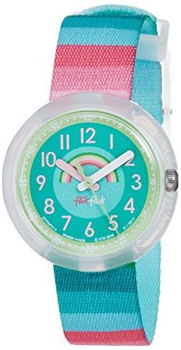 Flik Flak Mädchen Analog Quarz Uhr mit Stoff Armband FPNP014 - 1