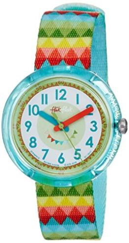 Flik Flak Mädchen Analog Quarz Uhr mit Stoff Armband FPNP015 - 1
