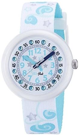 Flik Flak Mädchen Analog Quarz Uhr mit Stoff Armband FTNP005-STD - 1
