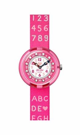 Flik Flak Mädchen Analog Quarz Uhr mit Textil Armband FBNP133 - 1