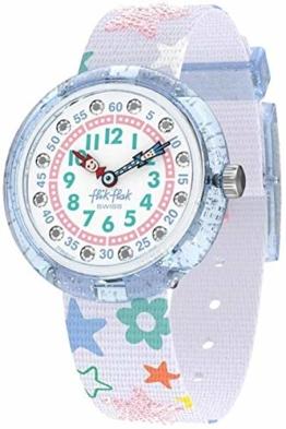 Flik Flak Mädchen Analog Quarz Uhr mit Textil Armband FBNP136 - 1