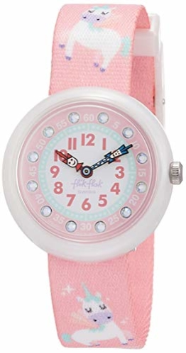 FlikFlak Mädchen Analog Quarz Uhr mit Stoff Armband FBNP121 - 1