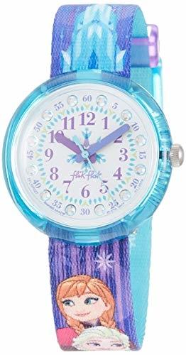 FlikFlak Mädchen Analog Quarz Uhr mit Stoff Armband FLNP027 - 1