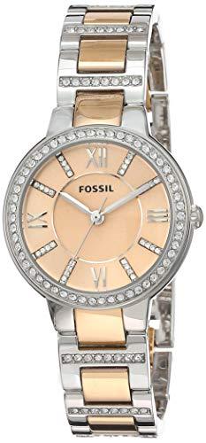 Fossil Damen Analog Quarz Uhr mit Edelstahl Armband ES3405 - 1