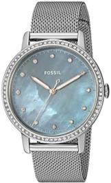 Fossil Damen Analog Quarz Uhr mit Edelstahl Armband ES4313 - 1