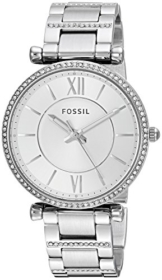 Fossil Damen Analog Quarz Uhr mit Edelstahl Armband ES4341 - 1