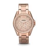Fossil Damen Analog Quarz Uhr mit Edelstahl beschichtet Armband ES2811 - 1