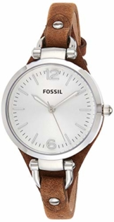 Fossil Damen analog Quarz Uhr mit Leder Armband ES3060 - 1