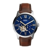 Fossil Herren Analog Mechanik Uhr mit Leder Armband ME3110 - 1
