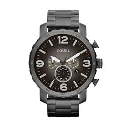 Fossil Herren Analog Quarz Uhr mit Edelstahl Armband JR1437 - 1