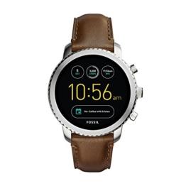 Fossil Herren-Armbanduhr Q Explorist Smartwatch Leder FTW4003 - 1