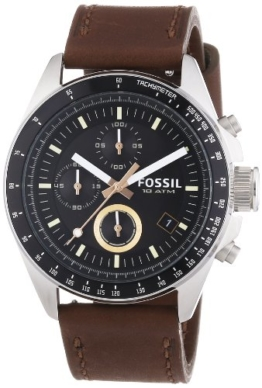 Fossil Herren Chronograph Quarz Uhr mit Leder Armband CH2885 - 1
