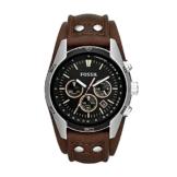 Fossil Herren Chronograph Quarz Uhr mit Leder Armband CH2891 - 1