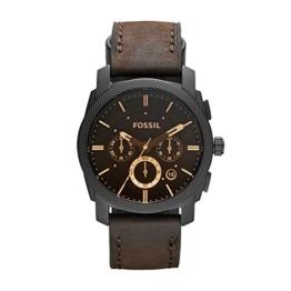 Fossil Herren Chronograph Quarz Uhr mit Leder Armband FS4656 - 1