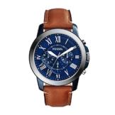 Fossil Herren Chronograph Quarz Uhr mit Leder Armband FS5151 - 1