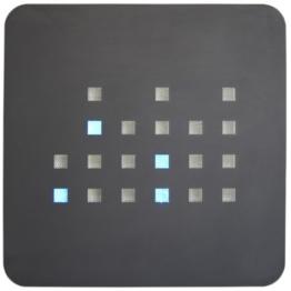 getDigital Binäre Wanduhr, blau - 1