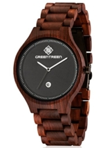 GREENTREEN Herren Holzuhr, Armbanduhr für Männer mit Holzarmband Analog Quarz - 1