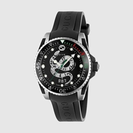 Gucci Uhr Dive 40 mm, Zinn und Gummi schwarz Stahl YA136323 - 1