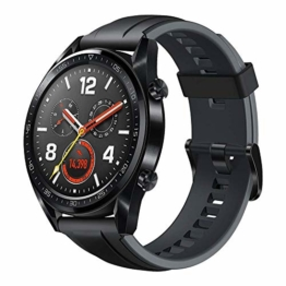 Huawei Watch GT Sport Smartwatch (46 mm Amoled Touchscreen, GPS, Fitness Tracker, Herzfrequenzmessung, 5 ATM wasserdicht) Schwarz - 1