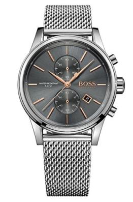 Hugo BOSS Herren-Armbanduhr 1513440, Stahl/Grau - 1