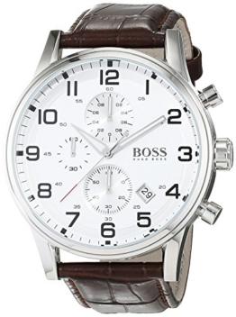 Hugo Boss Herren-Armbanduhr HB-2006 Chronograph Quarz Leder 1512447 - 1